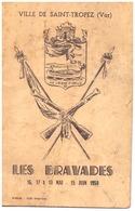 LES BRAVADES -ST TROPEZ-VAR 1954  15 PAGES - Programmes