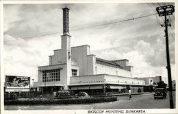 Indonesia, JAVA DJAKARTA JAKARTA, Bioscop Menteng, Cinema (1950s) RPPC Postcard - Indonesië