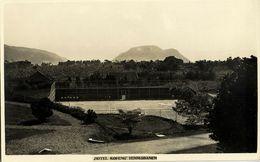 Indonesia, JAVA, Berg Hotel Kopeng, Tennis Courts (1920s) RPPC Postcard - Indonesië