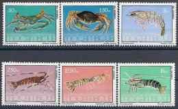 1981 MOZAMBIQUE 845-50** Crustacés - Mozambique