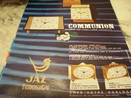 ANCIENNE PUBLICITE COMMUNION  DATOR UNE  JAZ 1968 - Bijoux & Horlogerie