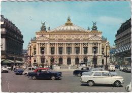 Paris: FIAT 1500, PEUGEOT 404 & 403 TAXI, 203, OPEL REKORD A, RENAULT FLORIDE, 4 - Théatre, Place De L'Opéra - Turismo