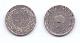 Hungary 10 Filler 1893 - Hongrie