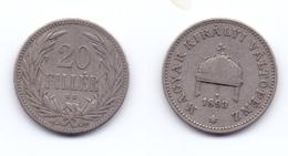 Hungary 20 Filler 1893 - Hongrie