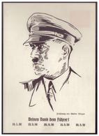 Dt- Reich (007680) Privat Ganzsache, Propaganda WHW, Fech PP122 C6, Deinen Dank Dem Führer, Ungebraucht - Deutschland