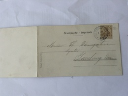 CP Dieuze(double) Oblit Vergaville 1906 - Alsace-Lorraine