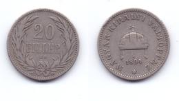 Hungary 20 Filler 1894 - Hongrie
