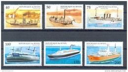 Mua168 TRANSPORT STOOMSCHIP SCHEPEN STEAMER SHIP SCHIFFE BENIN 1995 PF/MNH - Ships