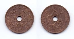 Rhodesia & Nyasaland 1/2 Penny 1958 - Rhodésie