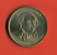 USA 2007P. John  Adams - 2th President Of USA. UNC. - Emissioni Federali