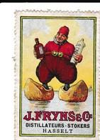 Vignet/sluitzegel J. FRYNS & Cie,Distillateurs-stokers , Hasselt - Publicités