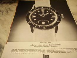 ANCIENNE PUBLICITE POUR VOUS AUSSI LES FEMMES  MONTRE LIP  1968 - Bijoux & Horlogerie