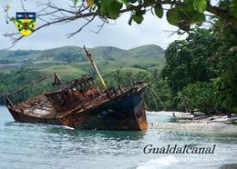 Solomon Islands Guadalcanal Shipwreck New Postcard Salomonen AK - Salomon