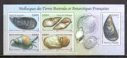 TAAF - 2014 - BF Mollusques Des TAAF ** - Blocs-feuillets