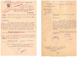 REQUISITIONS-DEMOLITION DU QUARTIER NORD DU VIEUX-PORT -MARSEILLE 1943 ET 1945- ETAT FRANCAIS  LES 2 - Documents