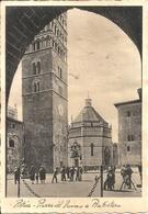 """Pistoia (Toscana) Piazza Del Duomo E Battistero, Thematic Stamp """"20 Cent. Bimillenario Augusteo 1937"""" - Pistoia"""