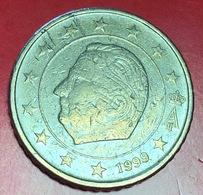 BELGIO - 1999 - Moneta - Effige Di  Re Alberto II - Euro - 0.50 - Belgio