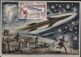 FDC48 - FRANCE N° 1422 PHILATEC Sur Carte Maximum 1964 - Cartes-Maximum