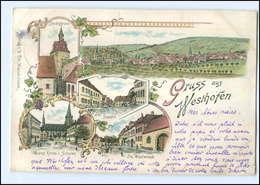 U5518/ Gruß Aus Westhofen Elsaß Litho AK 1898 - Elsass