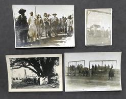 Colonialismo - Lotto 4 Fotografie Esecuzione Ribelli In Cirenaica - 1930 Ca. - Foto