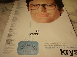 ANCIENNE PUBLICITE  IL EST KRYSMODE LUNETTE 1968 - Publicité