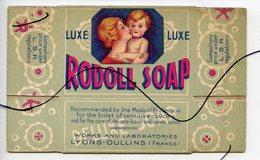 Publicité . Boite.  BOITE DE SAVON ANCIENNE LUXE PLIÉE DE RODOLL SOAP. P. GIRAUD PARIS.  LYONS OULLINS  P. - Publicités