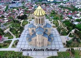 Georgia Tbilisi Holy Trinity Cathedral New Postcard Georgien Landkarte AK - Georgië