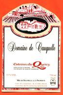 étiquette Autocollante Sur Support De Vin Coteaux Du Quercy Gaec De Cauquelle à Flaugnac - 75 Cl - Vin De Pays D'Oc
