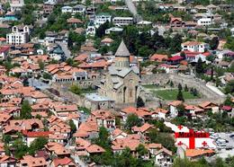 Georgia Mtskheta Svetitskhoveli Cathedral UNESCO New Postcard Georgien Landkarte AK - Georgië