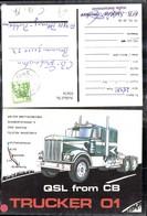 93674,QSL CB Karte Rastede Trucker 01 LKW Truck - Ansichtskarten