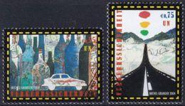 UNO WIEN 2004 Mi-Nr. 417/18 O Used - Aus Abo - Wien - Internationales Zentrum