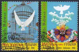 UNO WIEN 2006 Mi-Nr. 475/76 O Used - Aus Abo - Wien - Internationales Zentrum