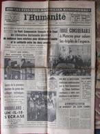 Journal L'Humanité (20 Oct 1964) Saluer Les Triplés De L'Espace - Janine Charrat - Georges Brassens - 1950 - Heute
