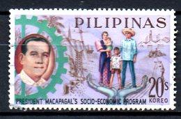 PHILIPPINES. N°583 Oblitéré De 1963. Tracteur. - Agriculture