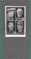 ! - Personnages - Photos Images Des 4 Vainqueurs De La Seconde Guerre Mondiale (Churchill, Staline,Truman, De Gaulle) - Politicians & Soldiers