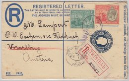Trinidad - 3 P. Einschreibe-Ganzsache+Zusatz I.d. SCHWEIZ 1932 - Trinité & Tobago (1962-...)