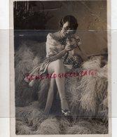 75- PARIS- RARE PHOTO ORIGINALE MISSTINGUETTE LANCE LA NOUVELLE MODE LEOPARD- PHOTO HENRI MANUEL 22 MAI 1928 - Berühmtheiten