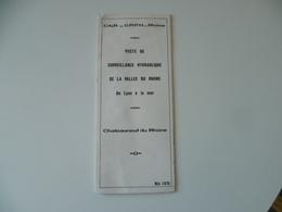 CNR  POSTE DE SURVEILLANCE DE LA VALLEE DU RHONE  CHATEAUNEUF DU RHONE - Cartes