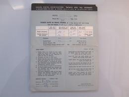 ISRAEL HOTEL MOTEL GUEST REST HOUSE KARL LAUFER ASSOCIATION RATES 1967 ADVERTISING LOGO DESIGN ORIGINAL - Manuscripts