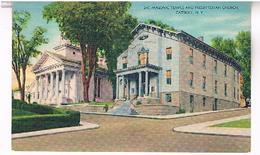MASONIC  TEMPLE  AND  PRESBYTERIAN  CHURCH  CATSKILL  N.Y  TBE   US290 - Catskills