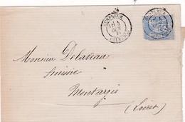 T.P Sage II N°78 Honfleur>Montargis 1877 - 1876-1898 Sage (Type II)