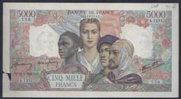 5000 FRANCS CINQ MILLES EMPIRE FRANCE BANKNOTE BILLET BANQUE GELDSCHEIN - 1871-1952 Circulated During XXth