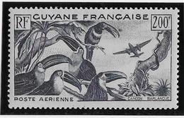Guyane Poste Aérienne N°37 - Neuf * Avec Charnière - TB - Neufs