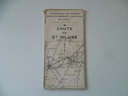 EDF  ELECTRICITE  BARRAGE  CHUTE DE ST HILAIRE  MAI 1957 - Cartes