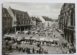 CPSM Allemagne Freiburg Schwarzwald Fribourg Market Scenes Le Marché Très Animé - Freiburg I. Br.