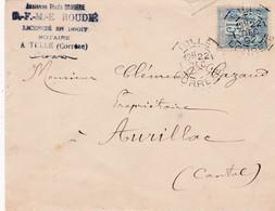 T.P Sage II N°90 Tulle>Aurillac1892 - 1876-1898 Sage (Type II)