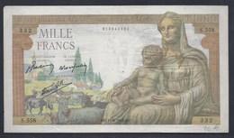 1000 FRANCS MILLE EMPIRE FRANCE BANKNOTE BILLET BANQUE GELDSCHEIN - 1871-1952 Circulated During XXth