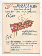 Protége Cahier , AUSSAGE , PANTIN ,Poivrossage, 2 Scans, Frais Fr : 1.75€ - Protège-cahiers