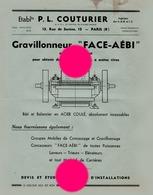 Ets P.L. COUTURIER  Rue De SURENE  PARIS 8e Vers 1930 - Publicités