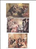 SALON DE PARIS A GUILLAUME 4 CPA - Paintings